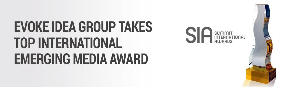 Evoke Idea Group Wins International Emerging Media Award