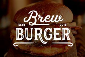 Brew Burger Logo Identity